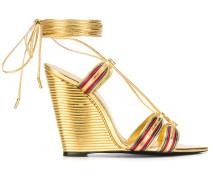 Espadrille metallic sandals