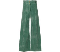 high rise overflared trousers