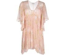 Kleid mit Metallic-Faden