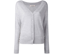 embellished sides V-neck cardigan - women