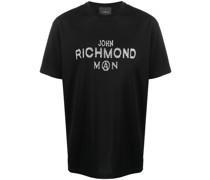 T-Shirt mit Logo-Nieten