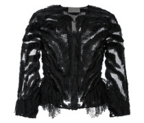 Semi-transparente Cropped-Jacke