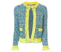Tweed-Jacke mit kontrastierender Borte