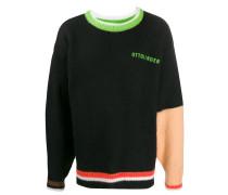 Sweatshirt mit Kontrastärmel