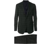 Karierter Anzug mit schmaler Passform