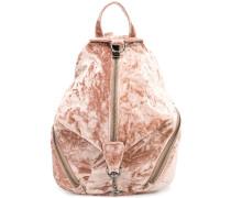 Samt-Rucksack mit Reißverschluss