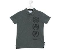 Polohemd mit Logo-Print - kids - Baumwolle - 16