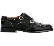 'Lana' Monk-Schuhe mit silberfarbenen Nieten