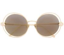 Vergoldete 'Serpent Bohème' Sonnenbrille mit SwarovskiKristallen