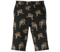 tiger print shorts