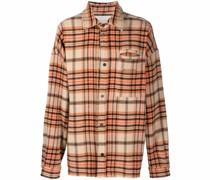 fringed checked shirt