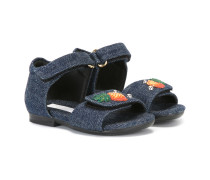 Sandalen mit Ananas-Patches