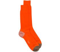 - Socken mit Kontrasteinsätzen - men