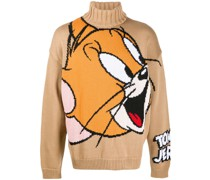 Pullover mit Cartoon-Intarsie