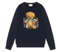 logo sweatshirt with teddy bear