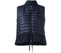 hooded padded front gilet