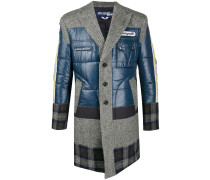 patchwork single breasted coat