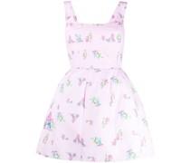 Kleid mit Zeichnungs-Print