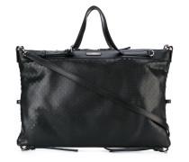 Handtasche mit eingeprägtem Punktemuster