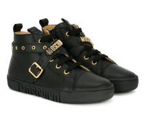 High-Top-Sneakers mit überkreuztem Riemen