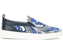 Slip-On-Sneakers mit barockem Print