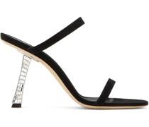 'Farrah' Sandalen mit Kristallabsatz