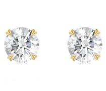 18kt Gelbohrstecker mit Diamanten