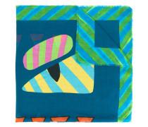 geometric print scarf - men