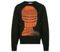 "Pullover mit ""Crochead""-Print"