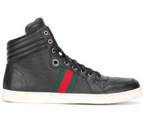High-Top-Sneakers mit Webstreifen