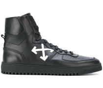 High-Top-Sneakers mit Pfeil-Print
