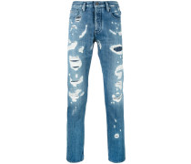 Gerade Jeans in Distressed-Optik - men