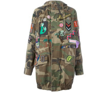 Camouflage-Parka mit Patches