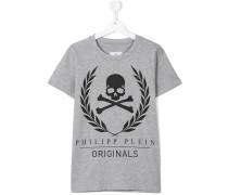 T-Shirt mit Totenkopf-Print - kids - Baumwolle