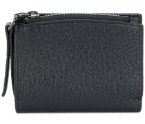 zipped bi-fold wallet