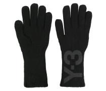 Handschuhe mit Logo-Print