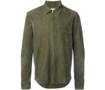 Wildleder-Hemdjacke mit Reißverschluss - men