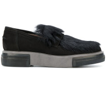Loafer mit Kaninchenpelzbesatz