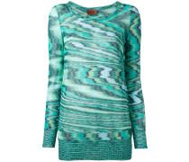 Langer Intarsien-Pullover - women - Baumwolle