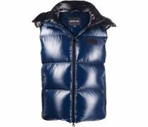 logo patch padded vest