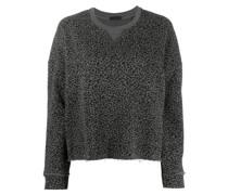 Cropped-Sweatshirt mit Leo-Print