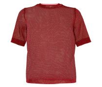 short-sleeve lurex jumper
