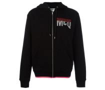 stitched logo hoodie