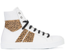 High-Top-Sneakers mit Leopardenmuster