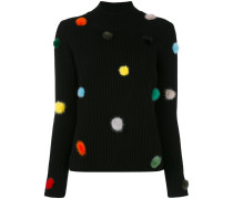 knit pom pom top - women - Nerz/Kaschmir - 40