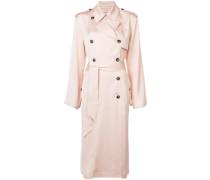 - double breasted duster coat - women - Viskose