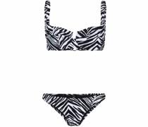 zebra-print bikini set