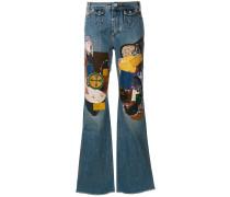 Jeans mit Patchwork-Optik