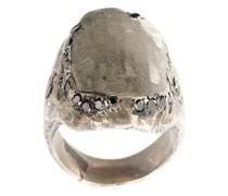 Silberring mit schwarzem Diamanten