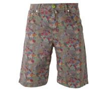 Jeans-Shorts mit Blumen-Print - men